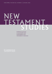 New Testament Studies Volume 65 - Issue 1 -