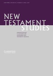 New Testament Studies Volume 67 - Issue 2 -