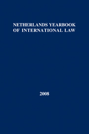 Netherlands Yearbook of International Law Volume 39 - Issue  -