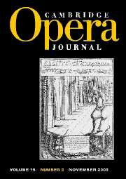Cambridge Opera Journal Volume 15 - Issue 3 -