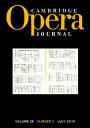 Cambridge Opera Journal Volume 28 - Special Issue2 -  Special Issue: Remaking the Aria