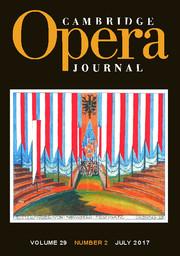 Cambridge Opera Journal Volume 29 - Issue 2 -