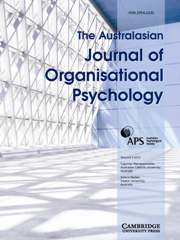 The Australasian Journal of Organisational Psychology