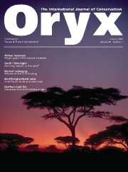 Oryx Volume 38 - Issue 1 -