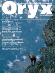 Oryx Volume 44 - Issue 4 -