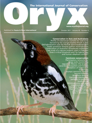 Oryx Volume 45 - Issue 4 -