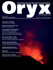 Oryx Volume 50 - Issue 2 -