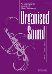 Organised Sound Volume 14 - Issue 1 -
