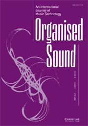 Organised Sound Volume 14 - Issue 1 -
