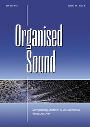Organised Sound Volume 17 - Issue 2 -  Composing Motion: A visual music retrospective
