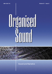 Organised Sound Volume 21 - Issue 3 -  Sound and Narrative