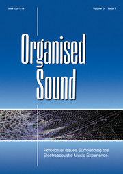 Organised Sound Volume 24 - Special Issue1 -  Perceptual Issues Surrounding the Electroacoustic Music Experience