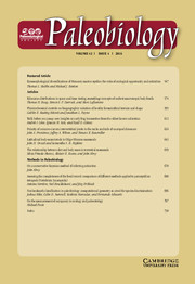 Paleobiology Volume 42 - Issue 4 -