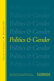 Politics & Gender Volume 11 - Issue 4 -