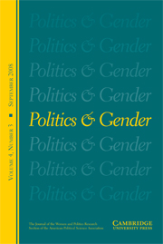 Politics & Gender Volume 4 - Issue 3 -