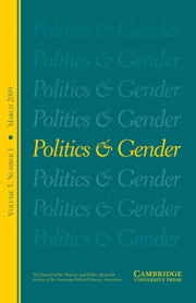 Politics & Gender Volume 5 - Issue 1 -