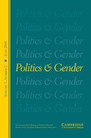 Politics & Gender Volume 5 - Issue 2 -