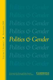 Politics & Gender Volume 5 - Issue 3 -