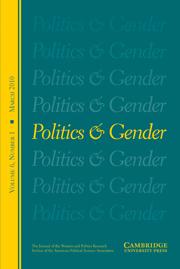Politics & Gender Volume 6 - Issue 1 -