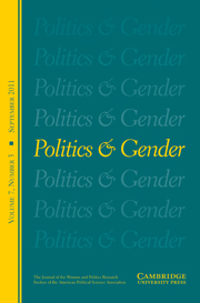 Politics & Gender Volume 7 - Issue 3 -