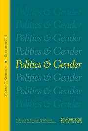 Politics & Gender Volume 7 - Issue 4 -