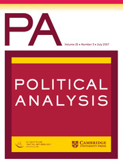 Political Analysis Volume 25 - Issue 3 -