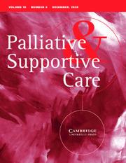 Palliative & Supportive Care Volume 18 - Issue 6 -