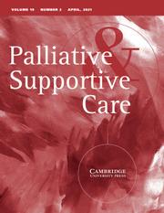 Palliative & Supportive Care Volume 19 - Issue 2 -