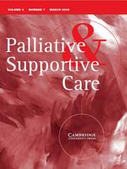 Palliative & Supportive Care Volume 6 - Issue 1 -