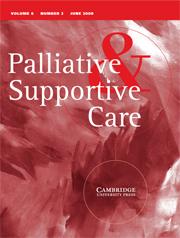 Palliative & Supportive Care Volume 6 - Issue 2 -