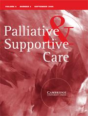 Palliative & Supportive Care Volume 6 - Issue 3 -