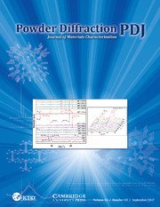 Powder Diffraction Volume 32 - Issue 3 -