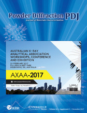Powder Diffraction Volume 32 - SupplementS2 -