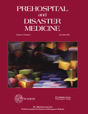 Prehospital and Disaster Medicine Volume 27 - Issue 6 -