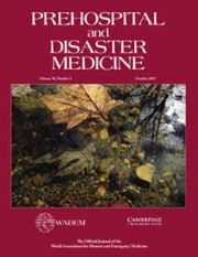Prehospital and Disaster Medicine Volume 30 - Issue 5 -