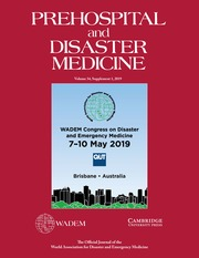 Prehospital and Disaster Medicine Volume 34 - Issue s1 -  Abstracts of Oral Presentations-WADEM Congress on Disaster and Emergency Medicine 2019