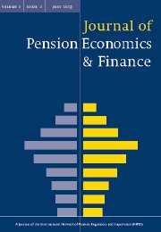 Journal of Pension Economics & Finance Volume 2 - Issue 2 -