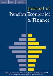 Journal of Pension Economics & Finance Volume 4 - Issue 2 -