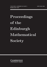 Proceedings of the Edinburgh Mathematical Society Volume 61 - Issue 1 -
