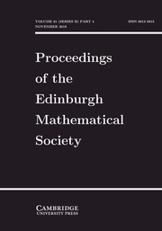Proceedings of the Edinburgh Mathematical Society Volume 61 - Issue 4 -