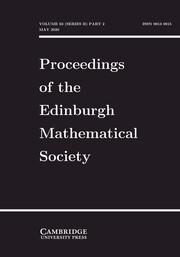 Proceedings of the Edinburgh Mathematical Society Volume 63 - Issue 2 -