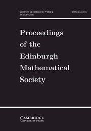 Proceedings of the Edinburgh Mathematical Society Volume 63 - Issue 3 -