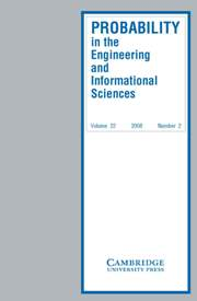 Probability in the Engineering and Informational Sciences Volume 22 - Issue 2 -