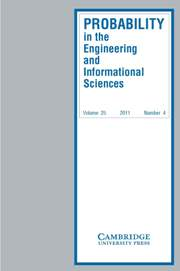 Probability in the Engineering and Informational Sciences Volume 25 - Issue 4 -