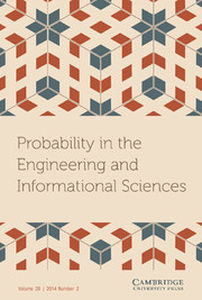 Probability in the Engineering and Informational Sciences Volume 28 - Issue 2 -