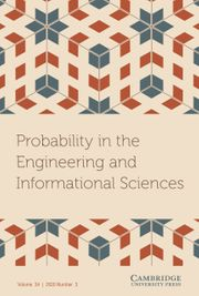 Probability in the Engineering and Informational Sciences Volume 34 - Special Issue3 -  Analytic Methods in Health Care and in Clinical Trials In Honor and Memory of Lycourgos (Lee) Papayanopoulos