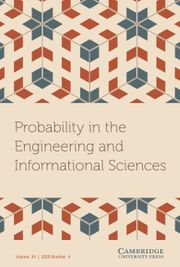 Probability in the Engineering and Informational Sciences Volume 34 - Issue 4 -