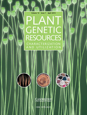 Plant Genetic Resources Volume 12 - Issue 1 -