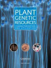 Plant Genetic Resources Volume 5 - Issue 3 -