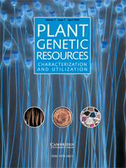 Plant Genetic Resources Volume 7 - Issue 1 -